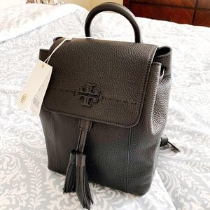 NWT Tory Burch Mcgraw Pebbled Backpack